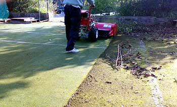 power sweeper / broom in action