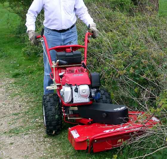 Walk Behind Honda Powered Rough Cut Mower Brush Cutter