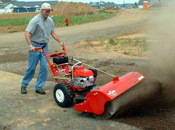 Walk Behind Sweeper Power Broom For Artificial Turf