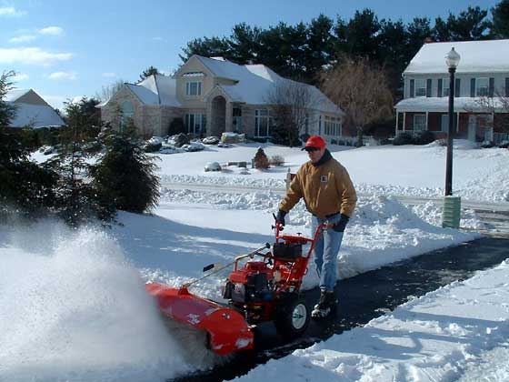 Power Sweeper snow clearing