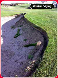 golf bunker edging