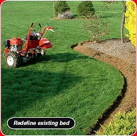 power edger to redefine existing bed