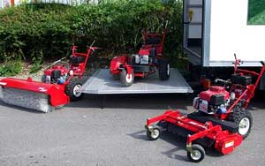 turfteq sweeper / broom, rake and edger